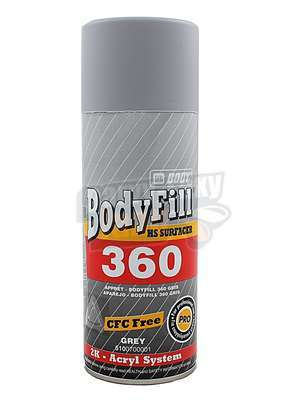 Plnič ve spreji Šedý 400ml Body 360