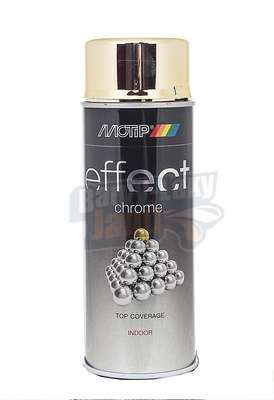 Chrom effect ve spreji Zlatý 400ml Motip deco